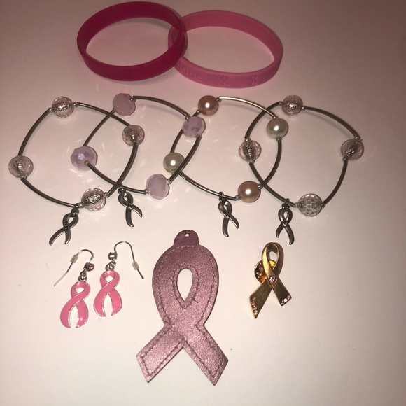 Breast Cancer Jewelry - Pink breast cancer jewelry bundle
